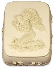 Angel holding Flowers Box