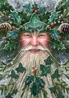 """Spirit of Yule"" Anne Stokes Magic Yule Card"