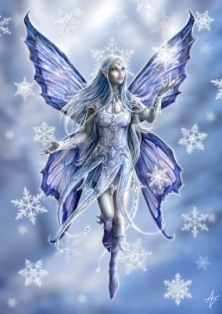 """Snowflake Fairy"" Anne Stokes Magic Yule Card"