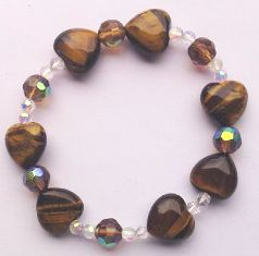 Tiger Eye Heart Beads Bracelet