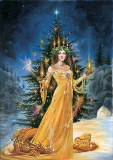 Lady of the Lights Briar Yule Card