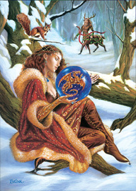 Scrying The New Year Briar Yule Card