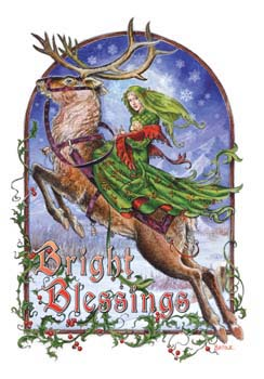 Bright Blessings Briar Yule Card