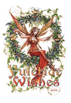Mistletoe Fairy Briar Yule Card