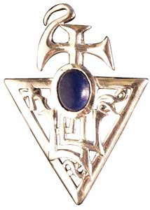 Sigil of Bether - Lapis Lazuli Pendant Prosperity & Abundanc