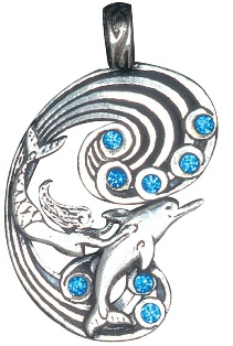 Mermaid and Dolphin for Harmony and Happiness