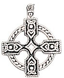 Wheel-headed Celtic Cross Charm for Inspiration & Intuition
