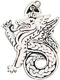 Celtic Dragon Charm for Leadership & Purity