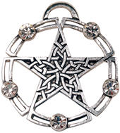 Celtic Pentagram the Endless Intertwining of Life