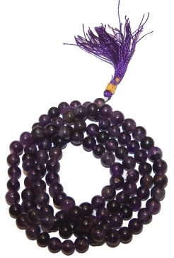 Amethyst Gemstone Mala Beads
