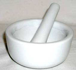 "White Porcelain 3"" Mortar & Pestle"